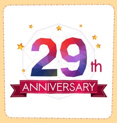 Colorful polygonal anniversary logo 2 029 vector