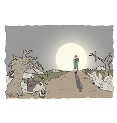 Comic scene vector image