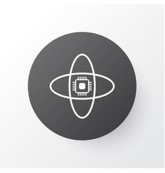 computer brain icon symbol premium quality vector image