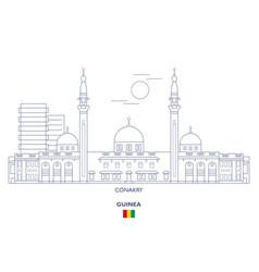 conakry city skyline vector image