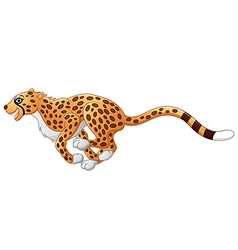 Cute cheetah running vector