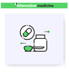 Dietary supplements line icon editable vector