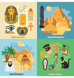 Egypt Concept Icons Set vector