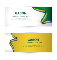 Gabon independence day template design vector