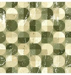 Geometric spherical seamless pattern vintage vector image