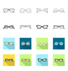 Glasses and frame logo vector