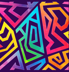 Graffiti geometric pattern whit grunge effect vector