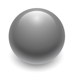Gray glossy sphere isolated on white vector