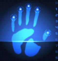 Hand print scanner vector