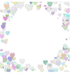 happy random heart background template design vector image