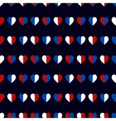 Hearts seamless pattern in USA national colors vector image