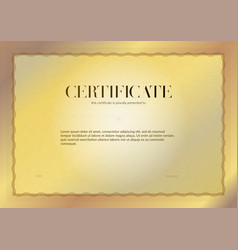 horizontal certificate with guilloche and vector image