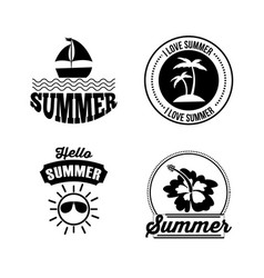 icon set summer flat vector image