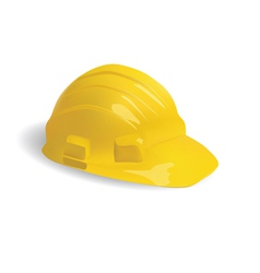 isolated hard hat vector image