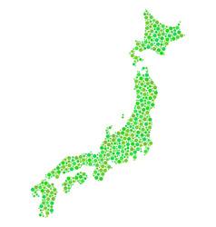 japan map mosaic of dots vector image