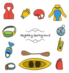 kayaking background - 5 vector image