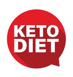 Keto diet label tag bubble vector