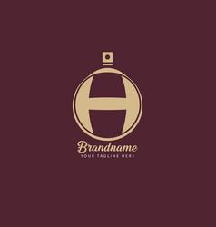luxury monogram letter h logotype premium brand vector image