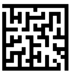 maze game labyrinth with entry and exit vector image