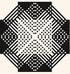 modern ethnic style ornament monochrome geometric vector image