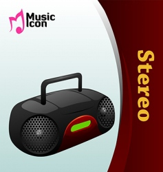 Music stereo icon vector