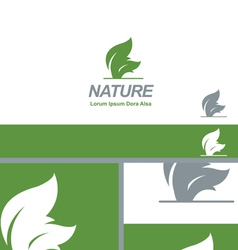 Nature Green Leaf Natural Organic Logo Concept vector