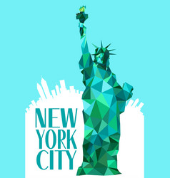 new york city statue liberty vector image