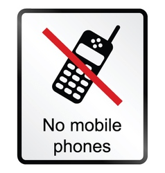 No Mobile Phones Information Sign vector