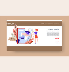 online education landing web page template gadget vector image