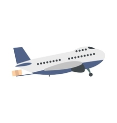 Passenger airplane flat vector image