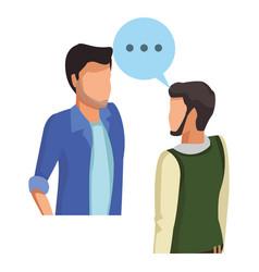 People talking avatar vector