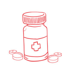 pills medicine bottle vector image