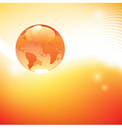 Planet in light concept vector image