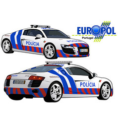 Portugal police car vector