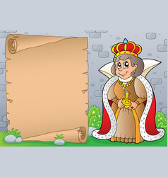 Queen topic parchment 1 vector