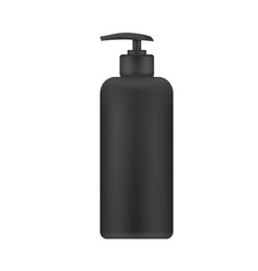 Realistic blank template of plastic bottle vector