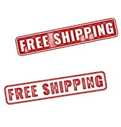 Realistic grunge rubber stamp free shipping vector