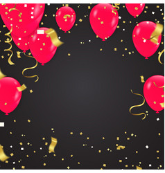 red helium ball isolated in the air celebration vector image