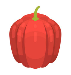 red pumpkin icon isometric style vector image