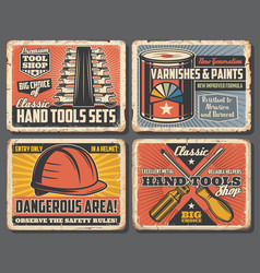 repairs and building tools shop carpentry vector image
