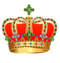 Royal gold crown with jewels vector