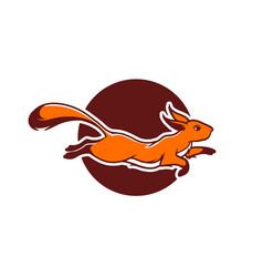 running squirrel logo icon vector image