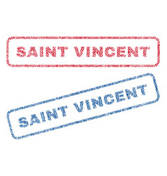 Saint vincent textile stamps vector
