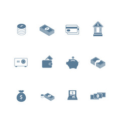 set of money icon flat design vector image
