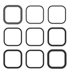 set square black monochrome rope frame vector image