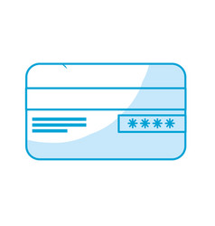Silhouette credit card financial and security vector