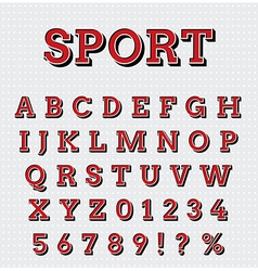 Sport style letters set vector