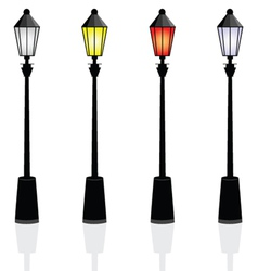 Street lights color vector
