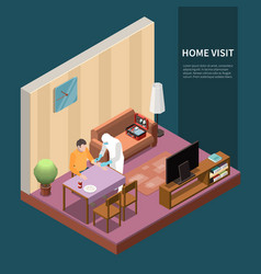 Test at home background vector