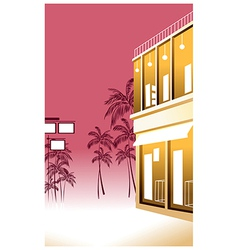 Tropical Street Scene vector